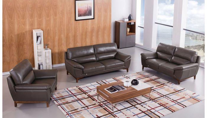 Brookville Italian Leather Living Room