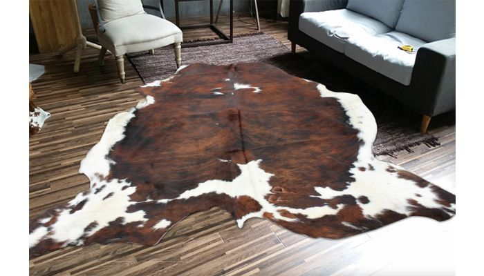 Brown and White Cow Hide