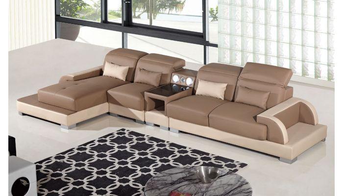 Ritz Two Tone Modern Sectional Sofa