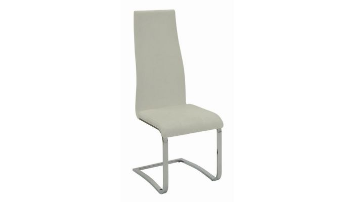 Bryn Contoured Design Dining Chairs White
