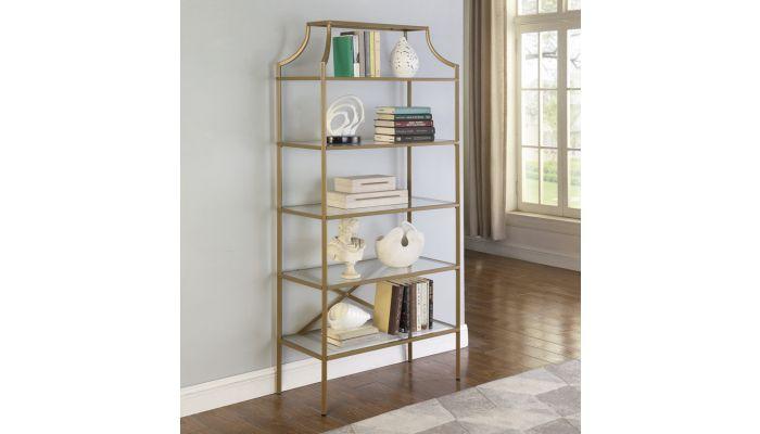 Buchanan Gold Finish Bookcase