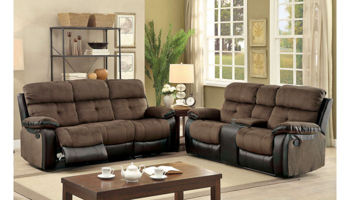 Bunnell Two Tone Recliner Sofa