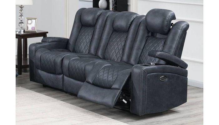 Miraculous Byrnes Ink Blue Power Recliner Sofa Alphanode Cool Chair Designs And Ideas Alphanodeonline