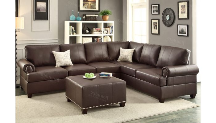 Byron Leather Casual Sectional Sofa