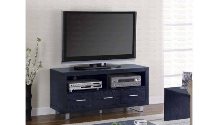 Santos Black Finish TV Stand