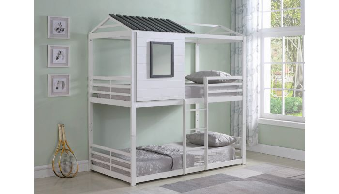 Cabin Twin Over Twin Bunk Bed
