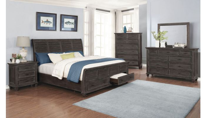 Cadero Sleigh Bedroom Set With Storage