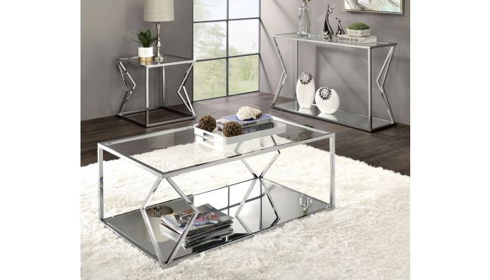 Cage Clear Glass Coffee Table