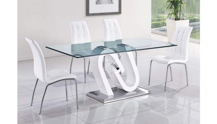Camron Glass Top Modern Dining Table