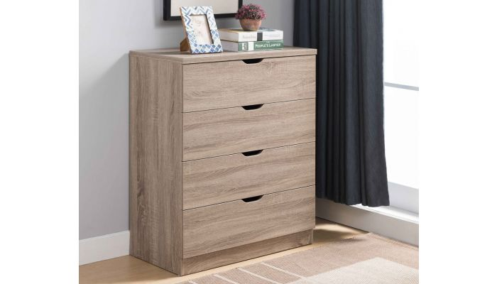 Cargo Taupe Finish 4-Drawer Chest