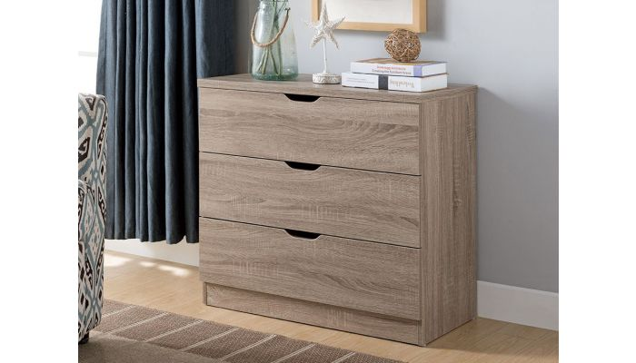 Cargo Rustic Taupe 3-Drawer Chest