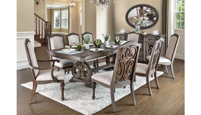 Carlton Rustic Finish Dining Room Furniture