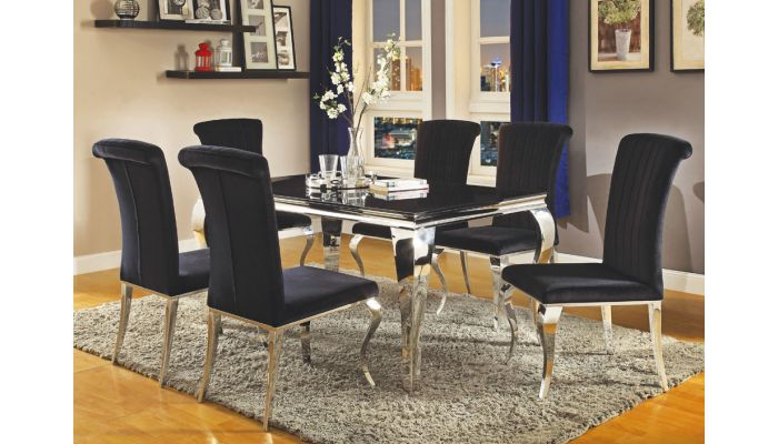 Carnell Hollywood Glam Dining Table Set