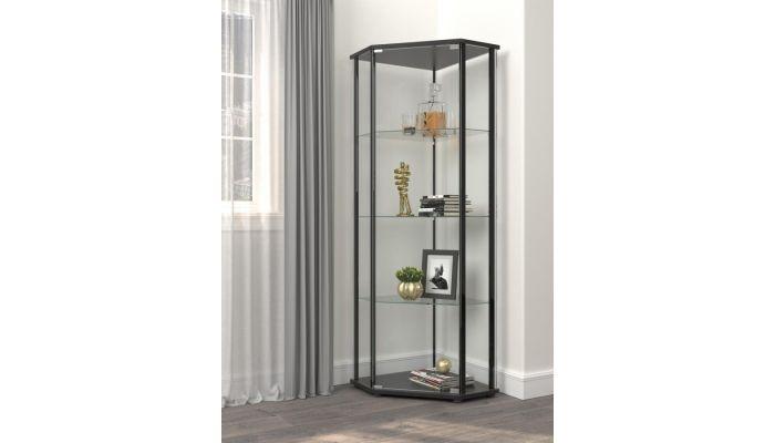 Casten Glass Corner Curio Cabinet