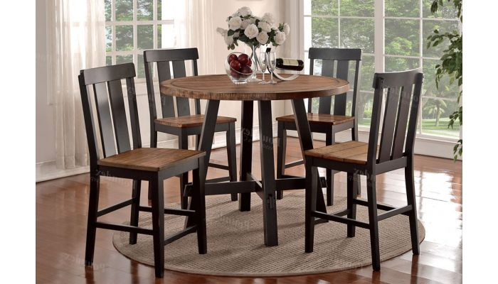 Cedar Rustic Counter Height Table Set
