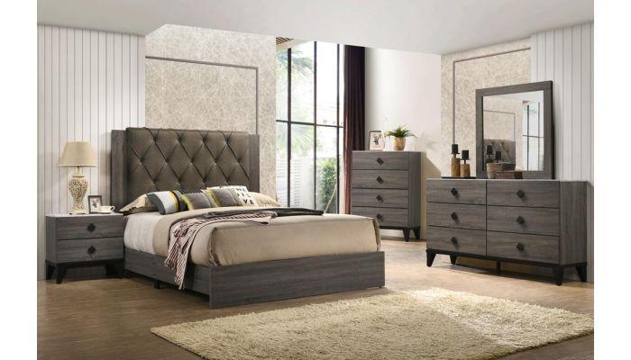 Celestial Rustic Grey Bed