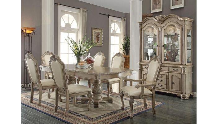 Cau Antique White Dining Room Furniture, White Dining Room Furniture