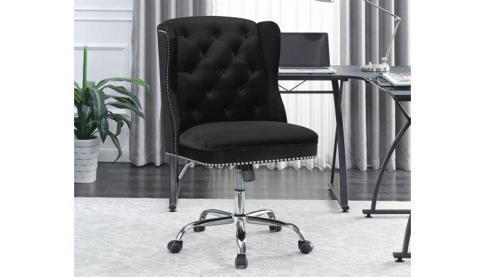 Chester Black Velvet Office Chair