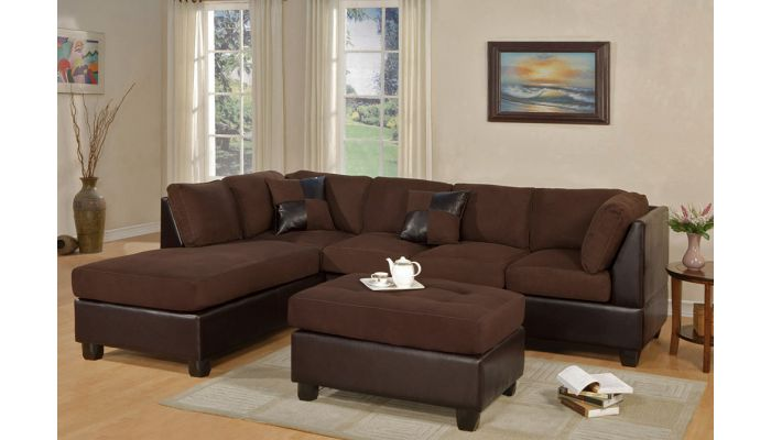 Casablanca Microfiber Sectional Sofa,Sectional Reverse Side