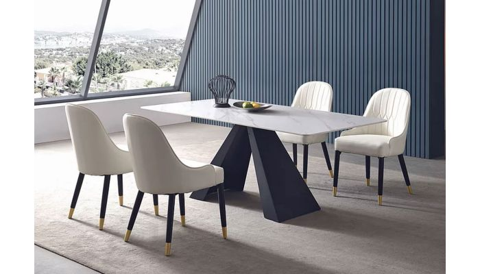 Cicero Marble Top Dining Table