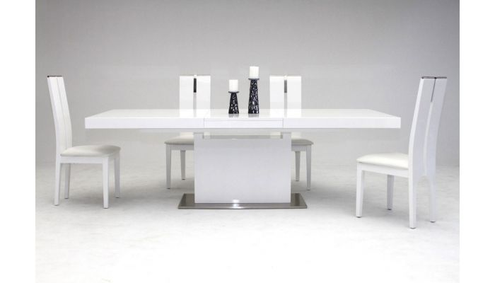 Cierra Modern Dining Table White Lacquer