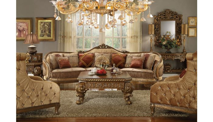 Cipriano Victorian Style Oversized Sofa