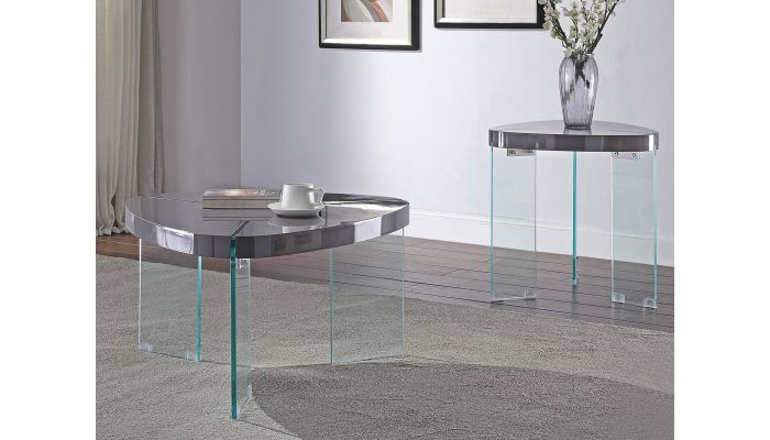 Clarice Grey Lacquer Floating Coffee Table