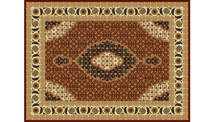 Mona Lisa Area Rug Collection T02 Burgundy