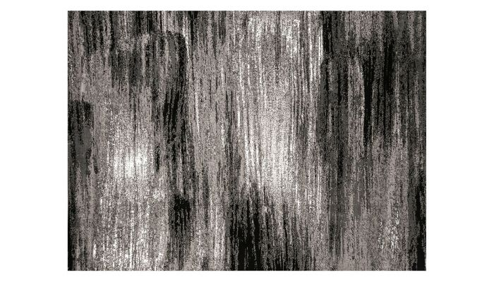 Clay Gray Black Modern Rug