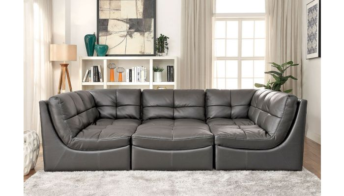 Cloud Dark Gray 6-Piece Modular Sectional Set