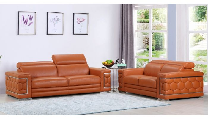 Tremendous Clovis Italian Leather Living Room Furniture Home Interior And Landscaping Thycampuscom