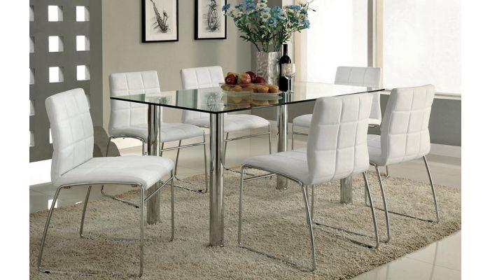 Kona Formal Glass Top Dining Table