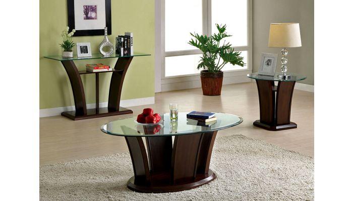 Keystone Modern Glass Coffee Table
