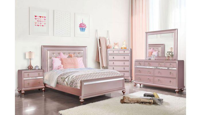 Roselie Pink Youth Bedroom Furniture