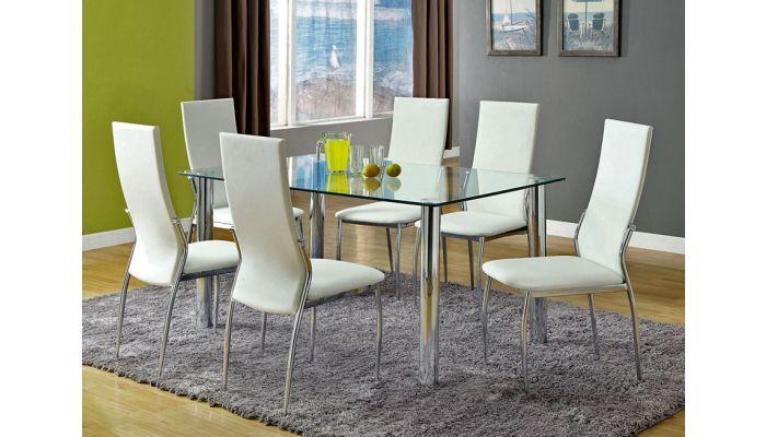 Kalawao Modern Glass Dining Table