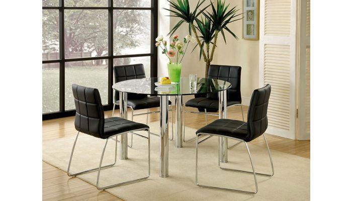 Kona Round Glass Top Table Set