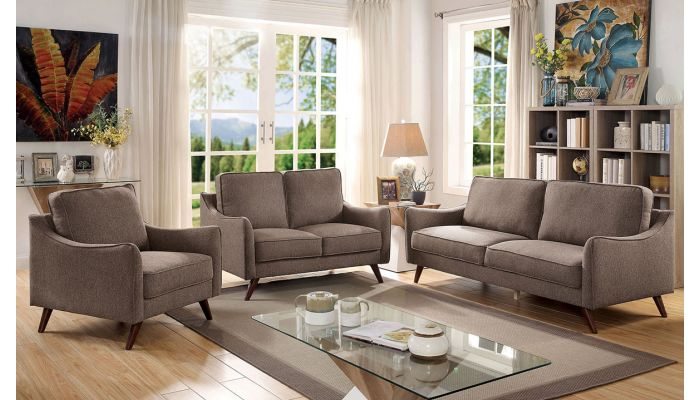 Codwell Brown Fabric Sofa
