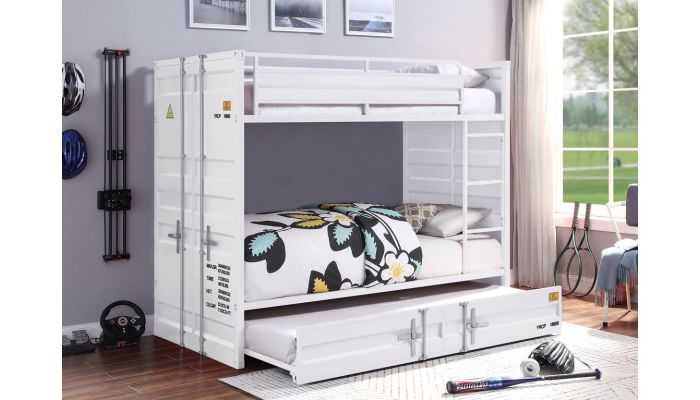 Container White Bunkbed Industrial Style