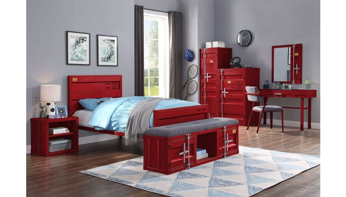 Container Red Youth Bedroom Collection