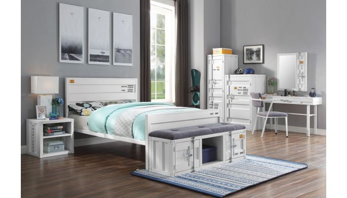 Container White Youth Bedroom Furniture