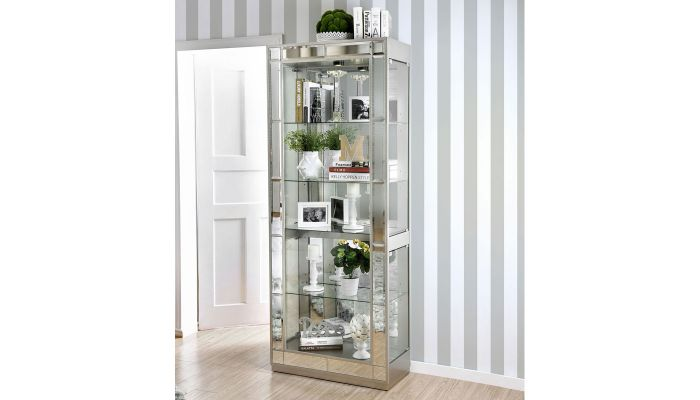 Convex Modern Mirrored Curio
