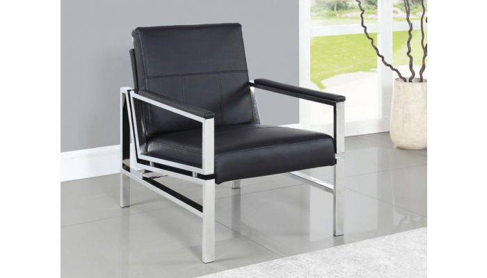 Cora Black Accent Chair