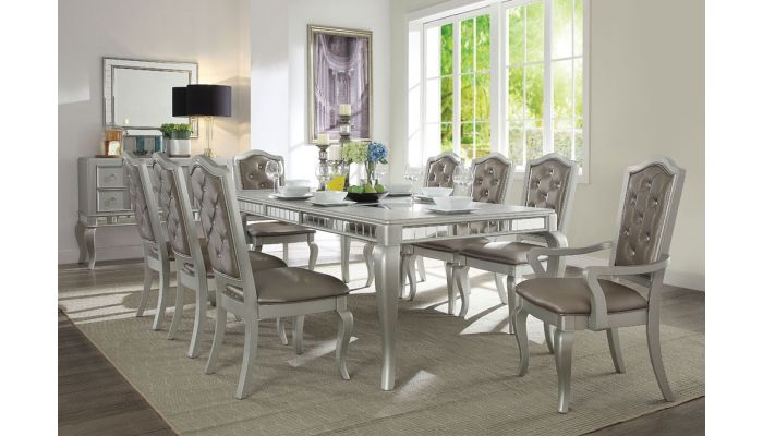Coralayne Champagne Dining Table Set