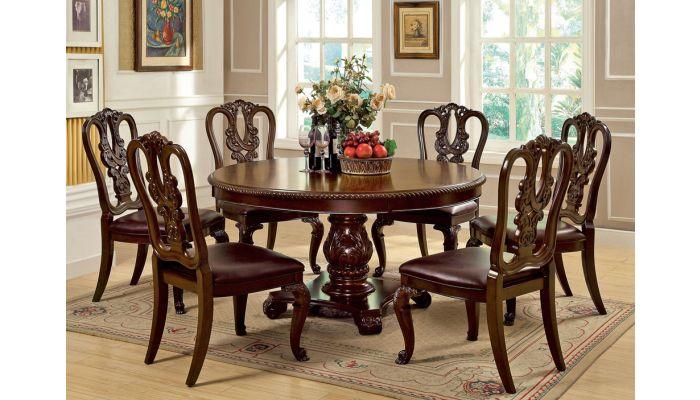 Coronado Cherry Finish Dining Table Set