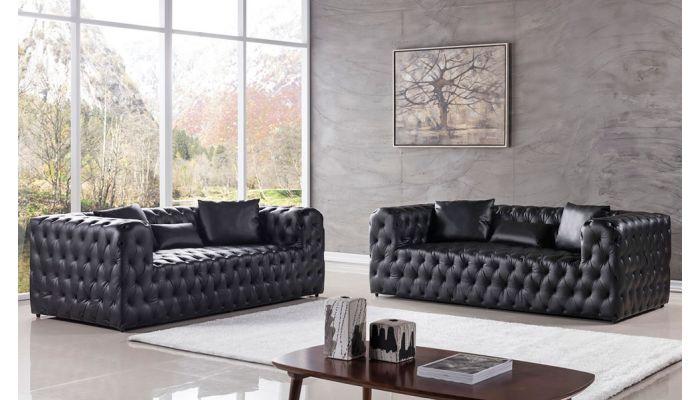 Cosima Modern Sofa Deep Tufted Leather