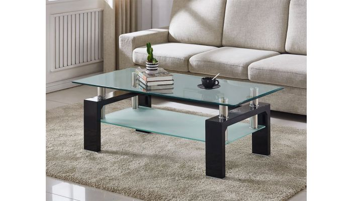 Costar Glass Top Coffee Table