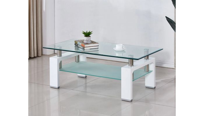 Camila White Lacquer Coffee Table
