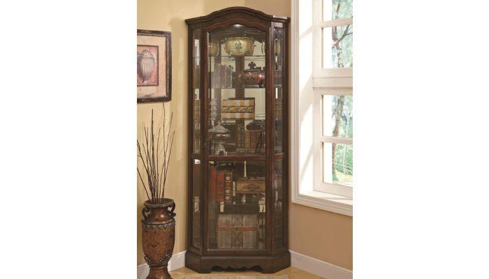 Regina Corner Curio Cabinet