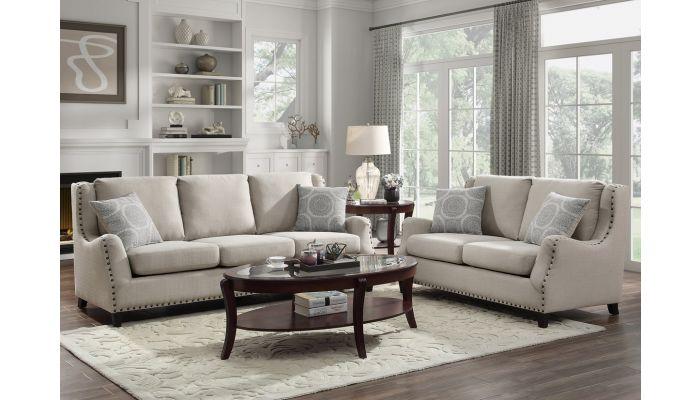 Dalton Beige Fabric Sofa Collection
