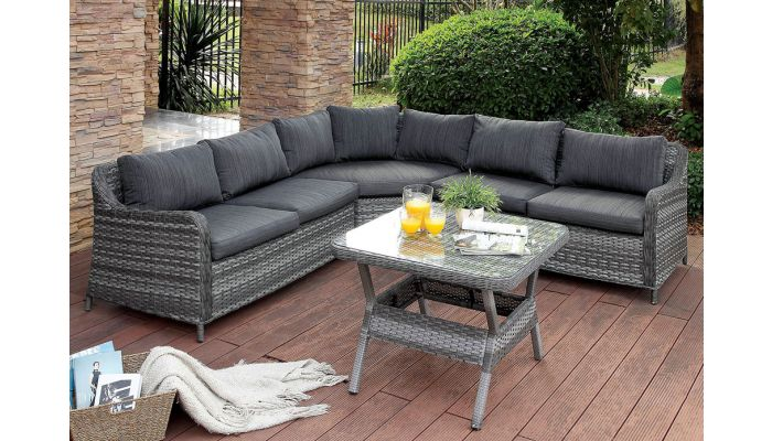 Miraculous Darlee Outdoor Sectional With Table Interior Design Ideas Clesiryabchikinfo